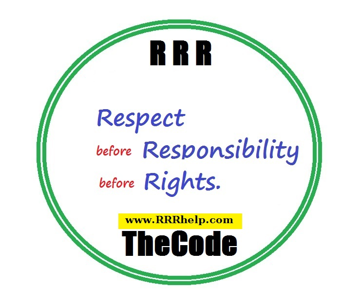 Respect before Responsibility before Rights .